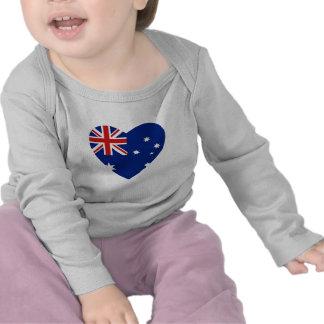 Australia Flag Heart T-Shirt