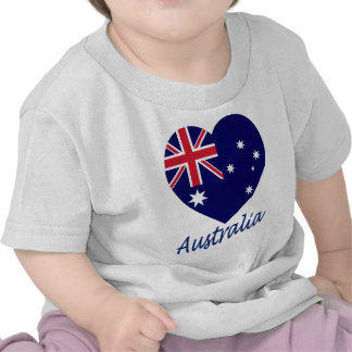 Australia Flag Heart Shirt