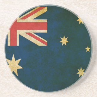 Australia Flag in Grunge Coasters