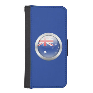 Australia Flag in Orb iPhone SE/5/5s Wallet Case