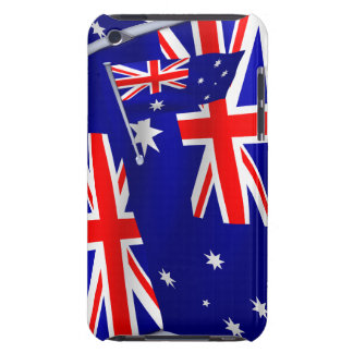 Australia flag in the wind Case-Mate iPod touch case