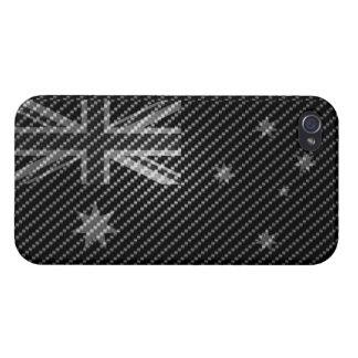 Australia Flag iPhone4 Carbon Fiber Cover version iPhone 4 Covers