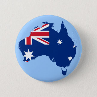 australia flag map 6 cm round badge