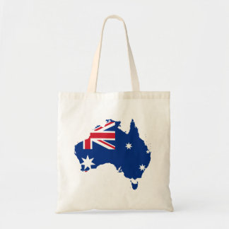australia flag map budget tote bag