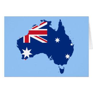 australia flag map greeting cards