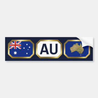 Australia Flag Map Code Bumper Sticker