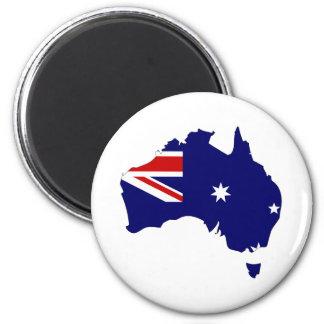 Australia Flag Map full size 6 Cm Round Magnet