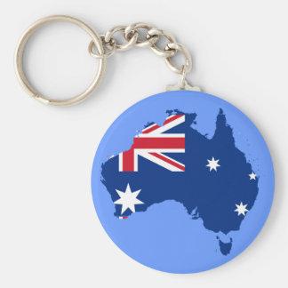 australia flag map key ring
