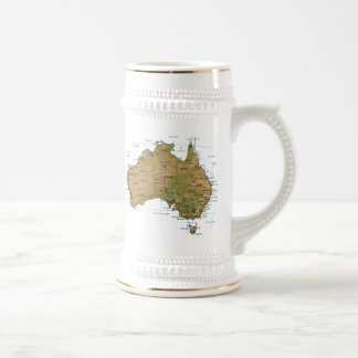 Australia Flag ~ Map Mug