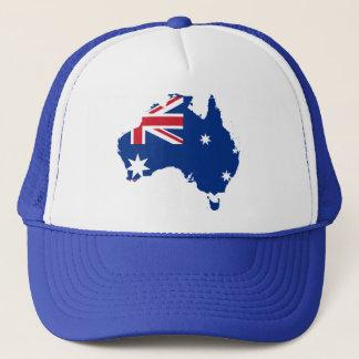 australia flag map trucker hat
