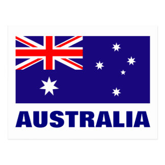 Australia flag postcards