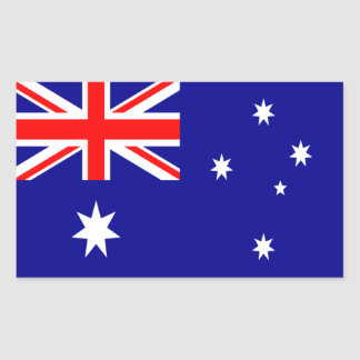 Australia Flag Rectangle Sticker