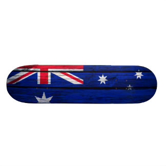 Australia Flag Rustic Wood Skate Deck