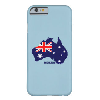 Australia flag silhouette custom design barely there iPhone 6 case