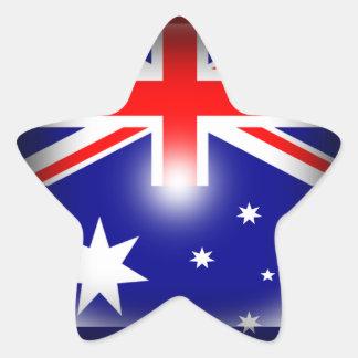 Australia Flag Star-Shaped Sticker