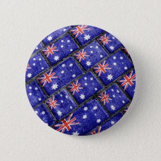 Australia Flag Urban Grunge Pattern 6 Cm Round Badge