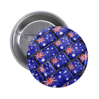 Australia Flag Urban Grunge Pattern 6 Cm Round Badge