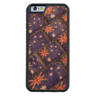 Australia Flag Urban Grunge Pattern Carved Cherry iPhone 6 Bumper Case