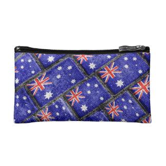 Australia Flag Urban Grunge Pattern Cosmetic Bag