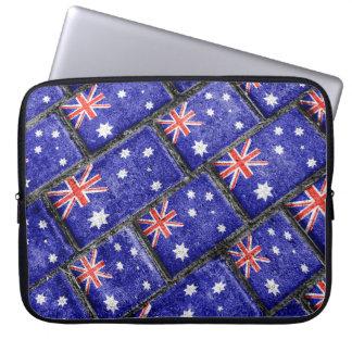 Australia Flag Urban Grunge Pattern Laptop Sleeve