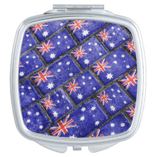 Australia Flag Urban Grunge Pattern Mirror For Makeup