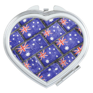 Australia Flag Urban Grunge Pattern Mirrors For Makeup