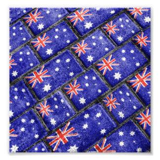 Australia Flag Urban Grunge Pattern Photo Print