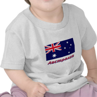 Australia Flag with name in Russian Tee Shirt