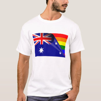 Australia Gay Pride Rainbow Flag T-Shirt