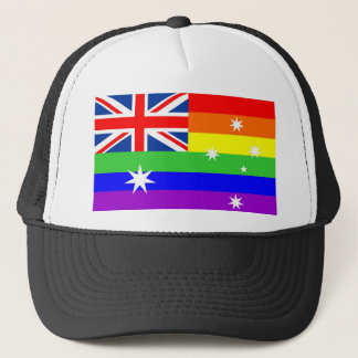 australia gay proud rainbow flag homosexual trucker hat