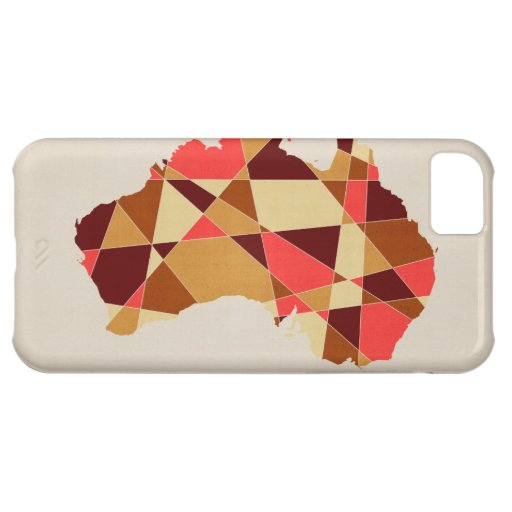 Australia Geometric Retro Map Cover For iPhone 5C