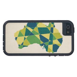 Australia Geometric Retro Map iPhone 5/5S Cases