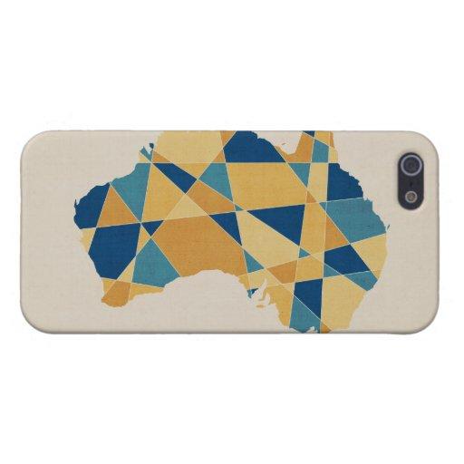 Australia Geometric Retro Map iPhone 5 Cases