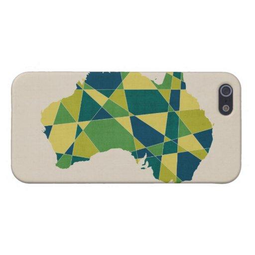Australia Geometric Retro Map Case For iPhone 5/5S