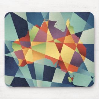 Australia Geometric Retro Map Mouse Pad