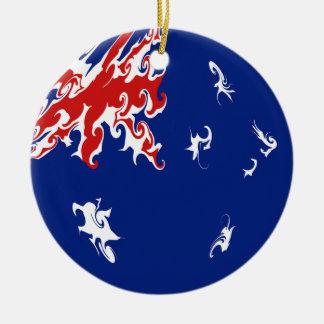 Australia Gnarly Flag Christmas Ornament