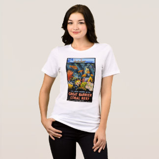 Australia Great Barrier Coral Reef Vintage Poster T-Shirt