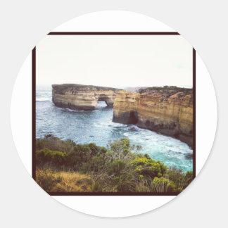 Australia Great Ocean Road Round Sticker