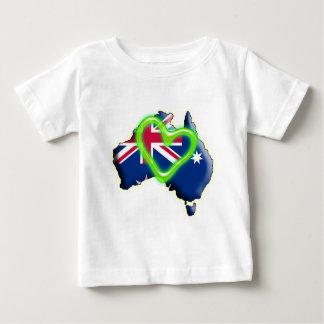 Australia (green heart) tee shirts