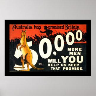 Australia Has Promised Britain (border) Poster