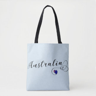 Australia Heart Grocery Bag, Australian Tote Bag