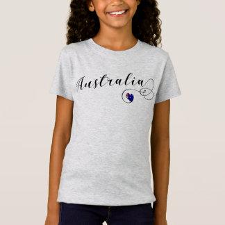 Australia Heart T-Shirt, Australian Flag T-Shirt