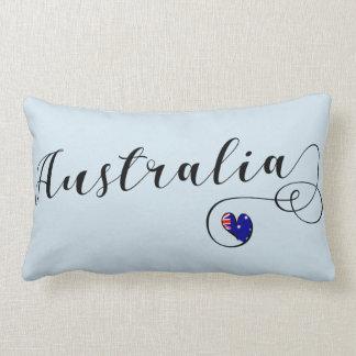 Australia Heart Throw Cushion, Australian Lumbar Cushion