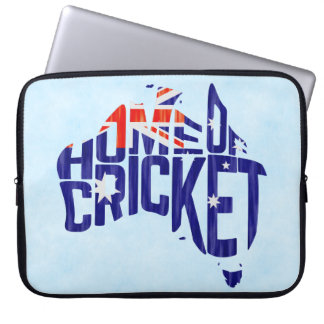 Australia Home of Cricket Calligram Laptop Case