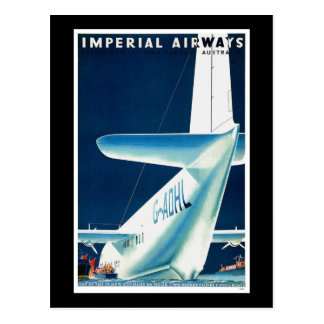 Australia Imperial Airways Postcard