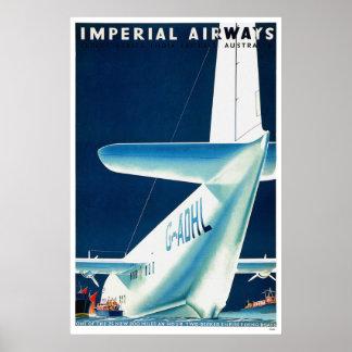 Australia Imperial Airways Poster