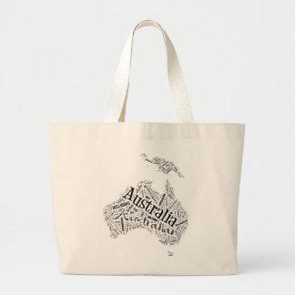 Australia in Tagxedo Jumbo Tote Bag