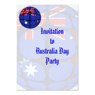 "Australia 5"" X 7"" Invitation Card"