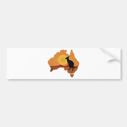 Australia Kangaroo Bumper Stickers