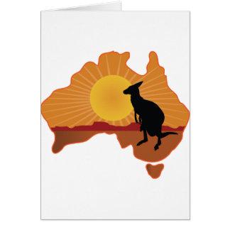 Australia Kangaroo Greeting Card